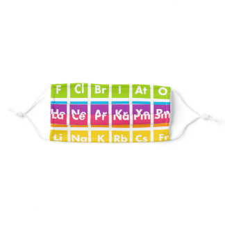 Periodic Table of Elements Science Face Mask
