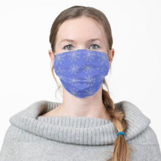 Periwinkle Snowflake Face Mask