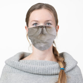 Persian Kitty Cat Photo Animal Face Adult Cloth Face Mask