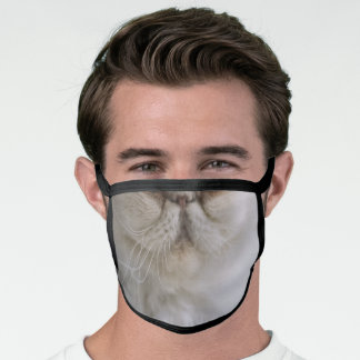 Persian Kitty Cat Photo Animal Face Poly Face Mask