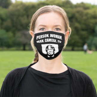 Person. Woman. Man. Camera. TV. Anti-Trump Adult Cloth Face Mask