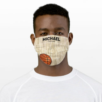 Personalized Basketball Coach Name Adult Cloth Face Mask