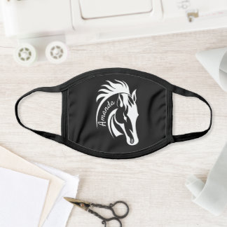Personalized Beautiful Horse Design Face Mask