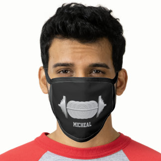 Personalized Bodybuilder Weight Bent Barbell Face Mask