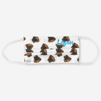 Personalized Boxer Dog Puppy Illustration Pattern Cloth Face Mask