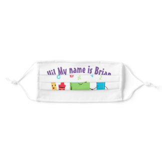 Personalized Childrens Back To School Adult Cloth Face Mask