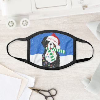 Personalized Christmas Bernese Mt Holiday Dog Face Mask