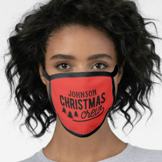 Personalized Christmas Crew Face Mask