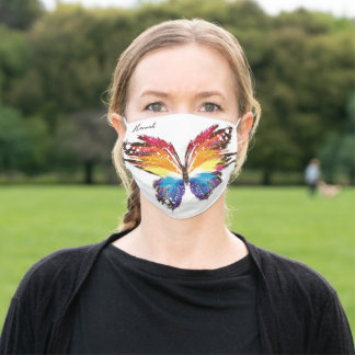 Personalized Colorful Butterfly Adult Cloth Face Mask