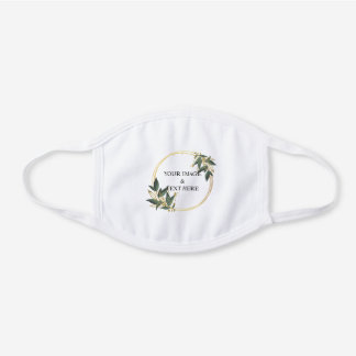 Personalized Custom Your Own Photo White Cotton Face Mask