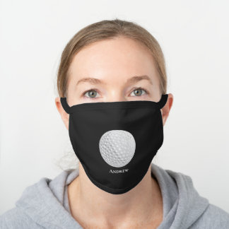 Personalized Golf Golfer Ball Sport Sports Black Cotton Face Mask