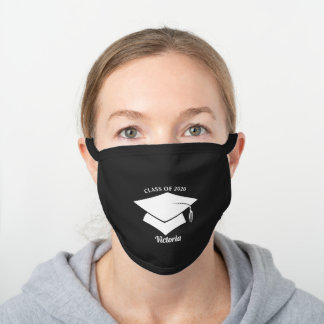 Personalized Graduation Cotton Face Mask Black