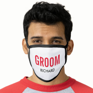 Personalized Groom Name Wedding Face Mask