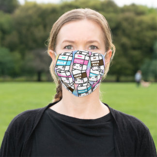 Personalized Kawaii Milk Family Adult Cloth Face Mask