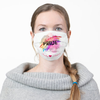 Personalized LGBTQ Pride Rainbow Color Heart Adult Cloth Face Mask