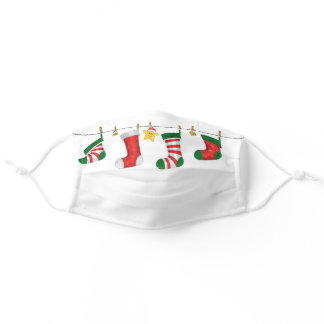 Personalized Modern Christmas Holiday Pattern Adult Cloth Face Mask