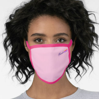 Personalized Name Infinity Love Shape Pink Face Mask