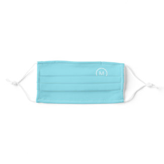 Personalized Name  Initials Monogram  Covid19 Adult Cloth Face Mask