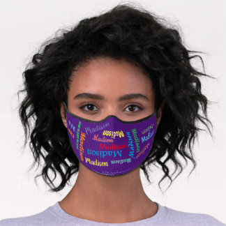 Personalized Name Repeating Pattern Premium Face Mask