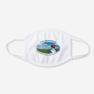 Personalized National Park Add Your Photo And Name White Cotton Face Mask