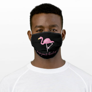 Personalized Pink Flamingo Adult Cloth Face Mask