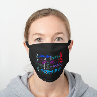 Personalized Repeating name 7 letters C Face Mask