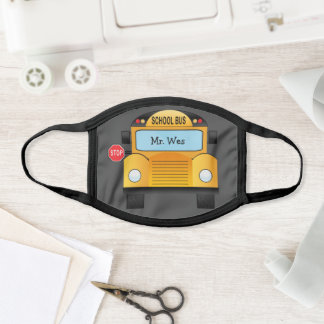 Personalized School Bus Face Mask