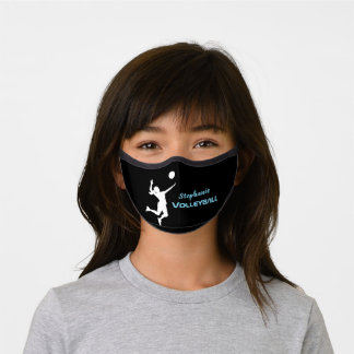Personalized School Sport Volleyball for Girls Premium Face Mask