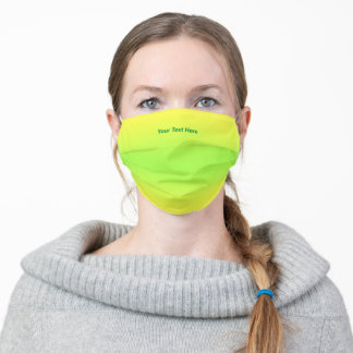 Personalized Text Yellow to Green Face Mask