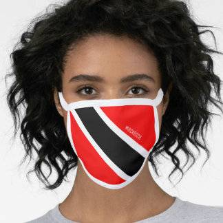 Personalized Trinidad and Tobago Flag Face Mask