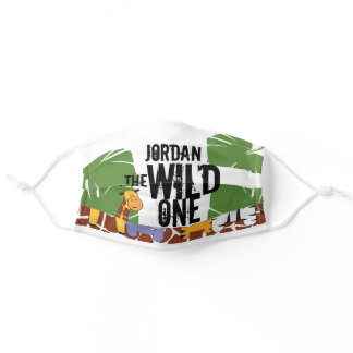 Personalized Wild One Animal Safari Adult Cloth Face Mask