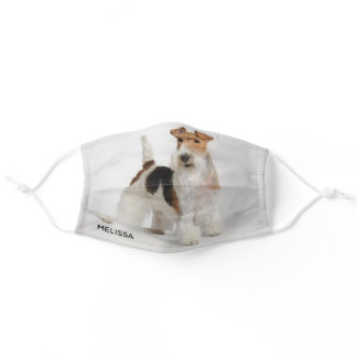 Personalized Wire Fox Terrier Photo Adult Cloth Face Mask