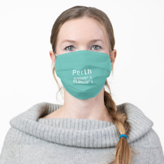 Perth Latitude Longitude Adult Cloth Face Mask