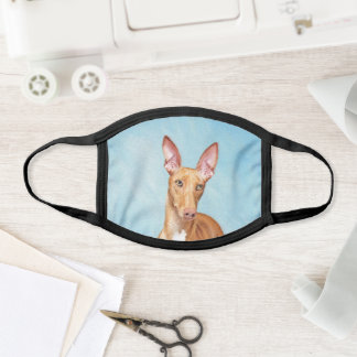 Pharaoh Hound Painting - Cute Original Dog Art Face Mask