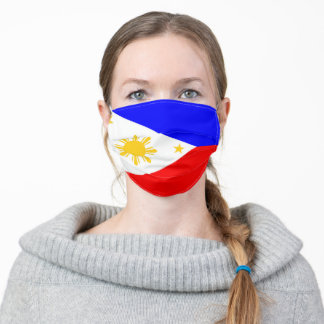 Philippines flag country flag symbol nation ethnic adult cloth face mask