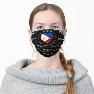 Philippines Flag & Heart, Philippine Flag /sports Adult Cloth Face Mask