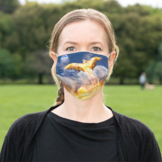 Phoenix Bird RISE ABOVE YOUR TROUBLES Adult Cloth Face Mask