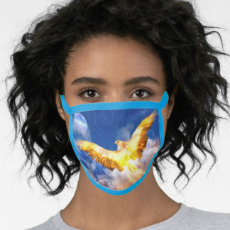 Phoenix Bird RISE ABOVE YOUR TROUBLES Face Mask