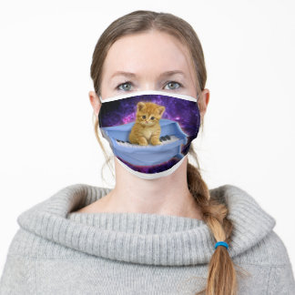 Piano cat adult cloth face mask