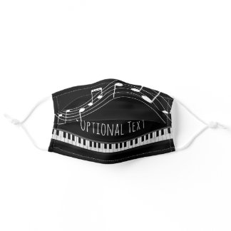 Piano Keyboard & Musical Notes Adult Cloth Face Mask