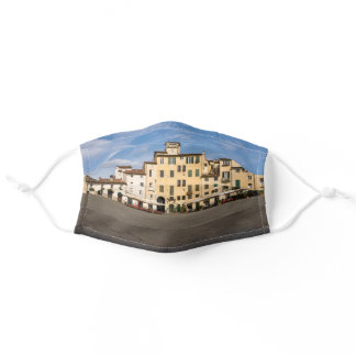 Piazza Anfiteatro square in Lucca - Tuscany, Italy Adult Cloth Face Mask