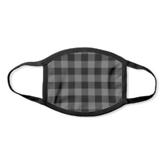 Pick Any 2 Buffalo Plaid Colors | Black and Gray Face Mask