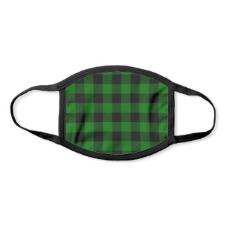 Pick Any 2 Buffalo Plaid Colors | Black and Green Face Mask