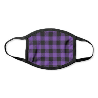 Pick Any 2 Buffalo Plaid Colors | Purple and Black Face Mask