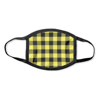 Pick Any 2 Buffalo Plaid Colors | Yellow and Black Face Mask