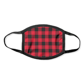 Pick Any 2 Color Pattern | Black Red Buffalo Plaid Face Mask