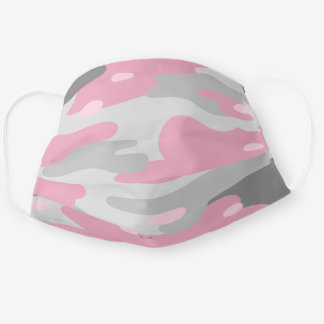 Pick Any 5 Pattern Colors | Gray Pink Camo Cloth Face Mask