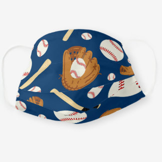 Pick Any Color Baseball Bat Glove Pattern Monogram Cloth Face Mask