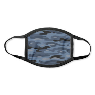 Pick Any Color Camo | Black Blue Gray Pattern Face Mask