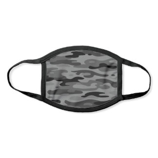 Pick Any Color Camo | Dark Gray Black Pattern Face Mask
